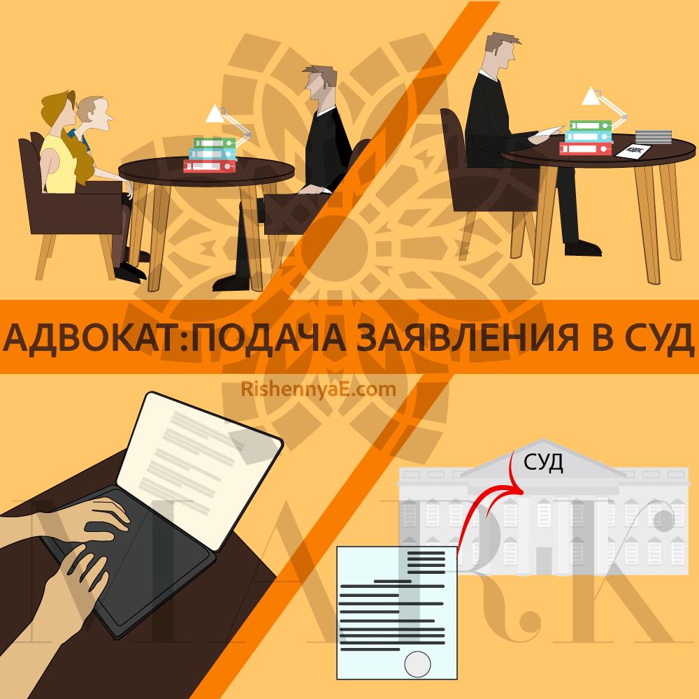 Адвокат подача заявления в суд http://rishennyae.com/